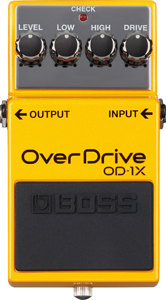 Boss OD-1X Overdrive Pedal Special Edition Front