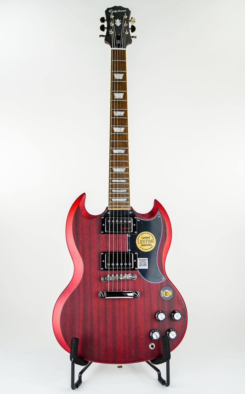 Epiphone Vintage G-400 SG Electric Guitar Worn Cherry