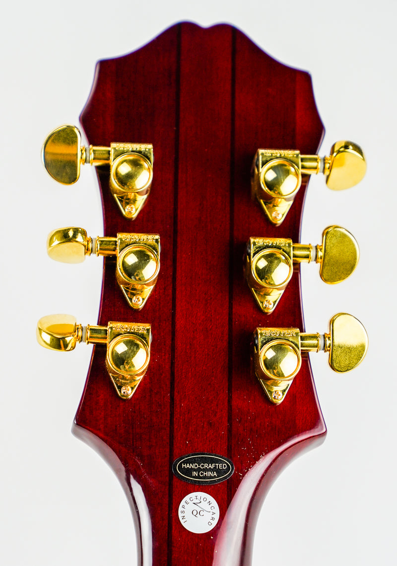 "Epiphone Sheraton-II PRO - Wine Red  ETSPWRGH1   Epiphone's Most Influential Thin-line   ProBucker™ humbucker Pickups The classic ""P.A.F"" sound is closer than you think"