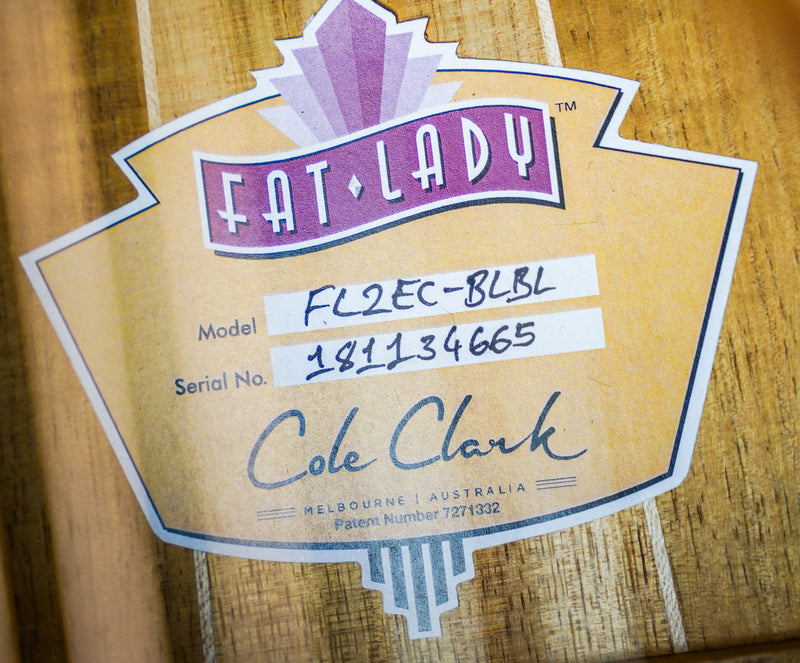Cole Clark FL2E-BLBL Fat Lady Series 2 w/ Hard Case - (181134665)