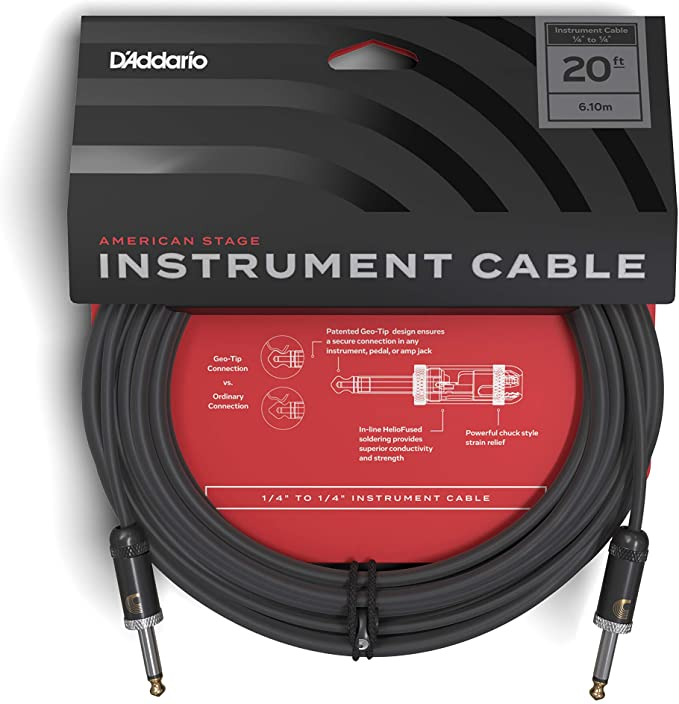 D'Addario PW-AMSG-20 Planet Waves American Stage Instrument Cable - 20ft