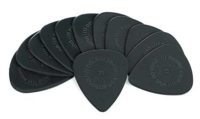 Dunlop 450P071 Prime Grip Delrin 500 Guitar Picks .71mm Guitar Picks - 12 Pack