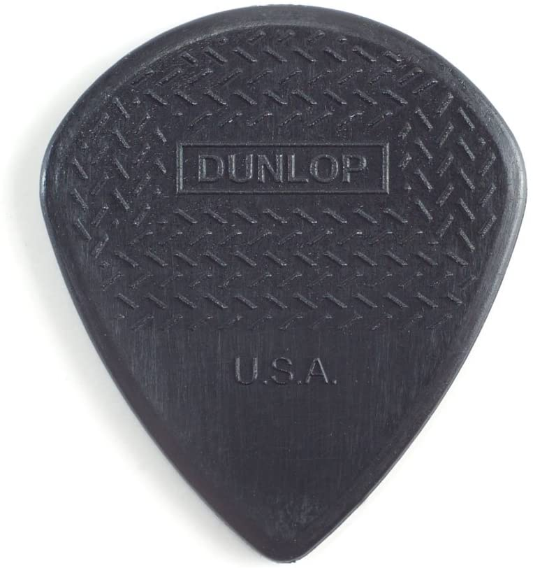 "Dunlop 471P3S Max-Grip Jazz III Black ""Stiffo"" 1.38mm Guitar Pick - 6 Pack"