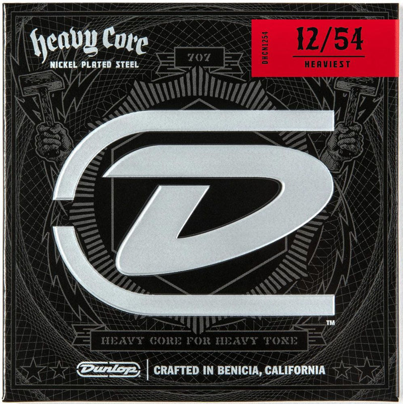 Dunlop DHCN1254 Heavy Core Nickel Wound 12–54 Heaviest Guitar Strings