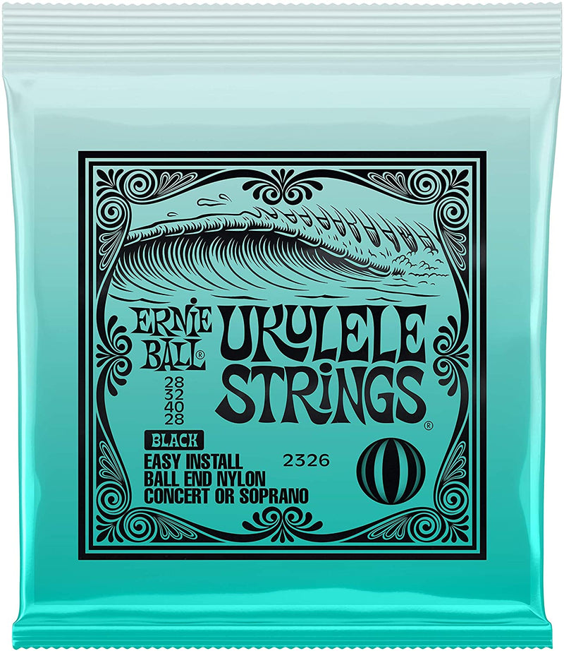 Ernie Ball P02326 Ball End Soprano/Concert Ukulele Strings - Black