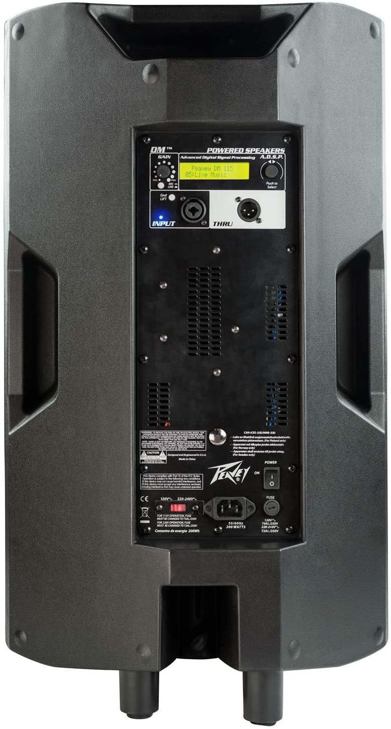 "Peavey DM 115 Dark Matter 15"" Powered PA Loudspeaker"