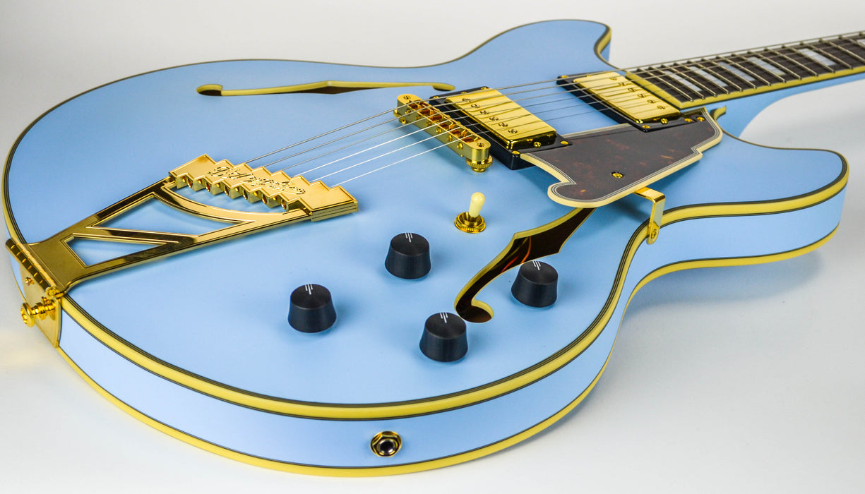 D'Angelico Deluxe DC Matte Blue