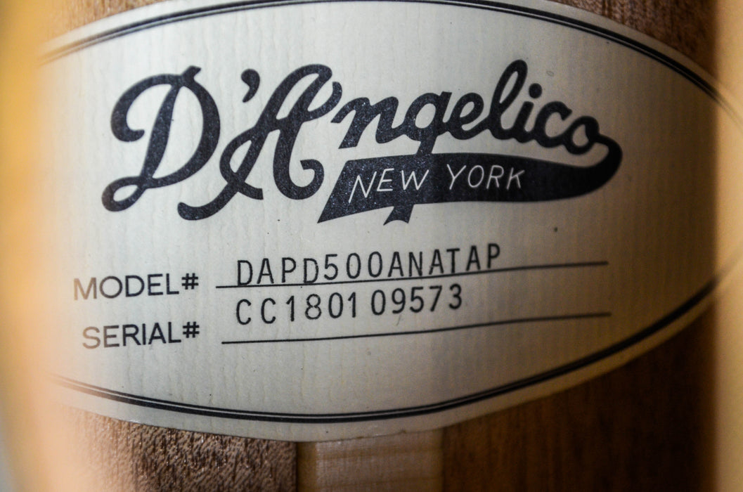 D'Angelico Premier Bowery Aged Natural