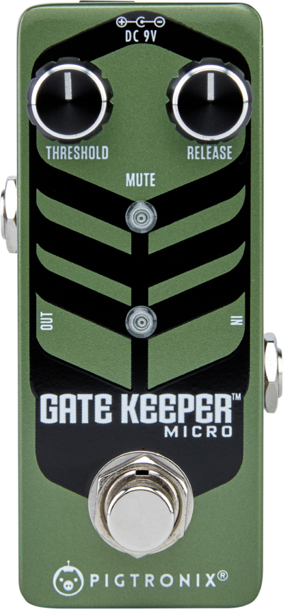 Pigtronix GKM Gatekeeper Micro High Speed Noise Gate Guitar Pedal
