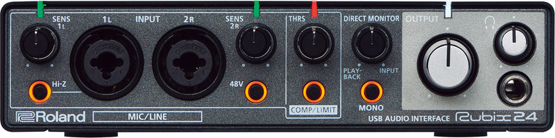 Roland Rubix 24 USB Audio Interface 2 in/4 out front