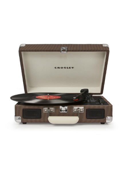 Crosley CR8005D-TW Deluxe Cruiser Turntable With Bluetooth And Pitch Control - Tweed