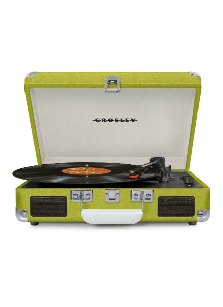 Crosley CR8005D-GR Cruiser Deluxe Turntable with Bluetooth - Green Vinyl