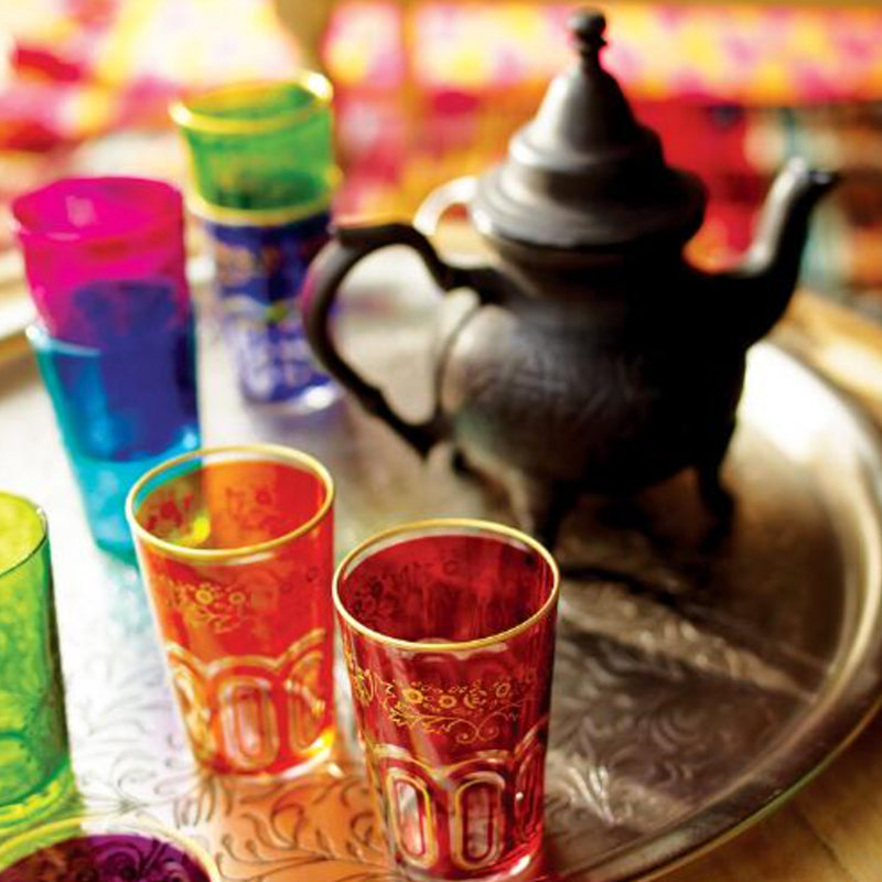 colorful moroccan tea glasses