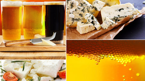 beer pairing collage