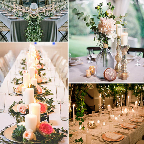 floral wedding decor and centerpieces