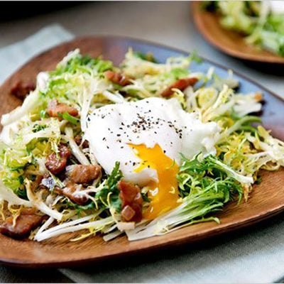 french salad with egg