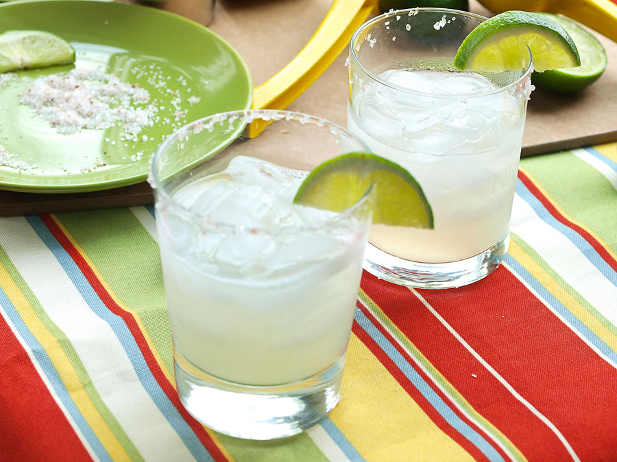 Margarita in French Glass with Salt on the Rocks