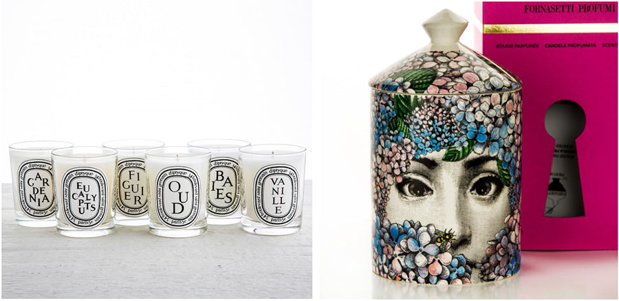 maison midi fornasetti and diptyque candles
