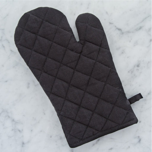 100% Cotton Black Oven Mitt