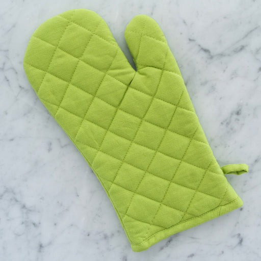 100% Cotton Lime Green Oven Mitt