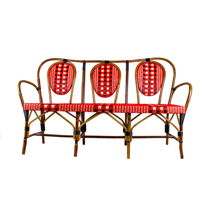 3 Seat Rattan Sofa with Arms