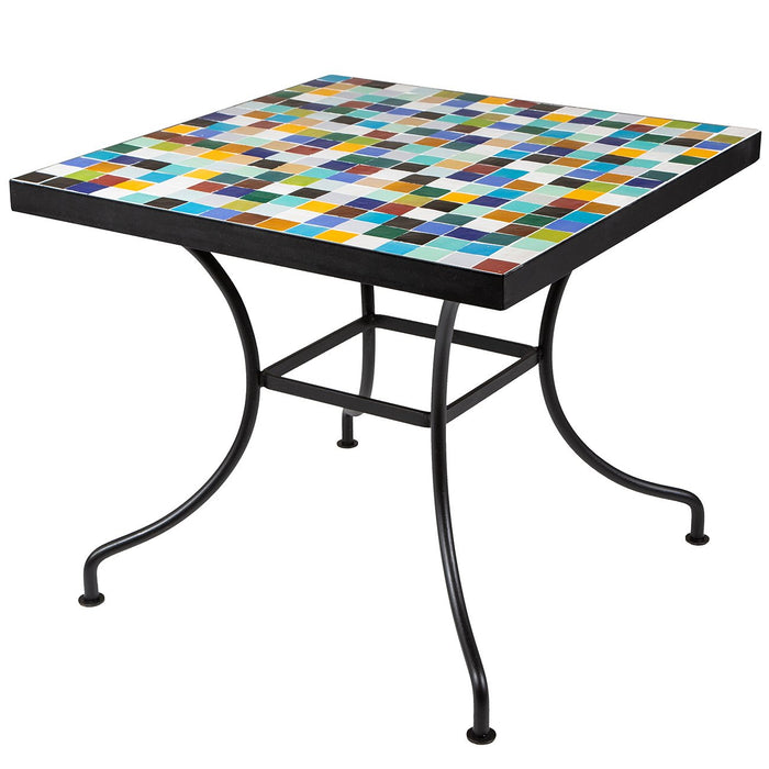 4-Top Mosaic Iron Table