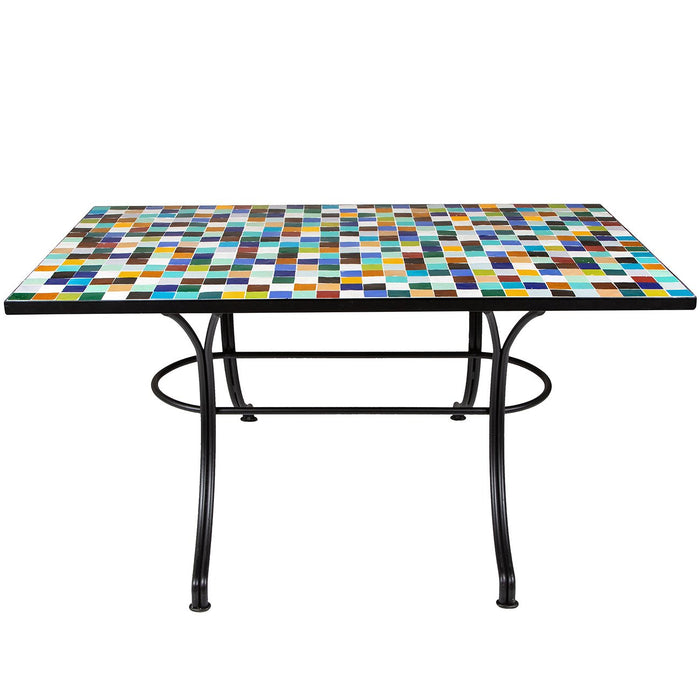 6-Top Mosaic Iron Table
