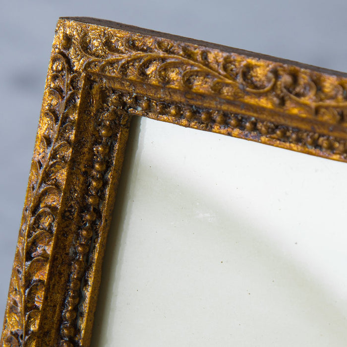 "Acanthus Ornate Golden Filigree Picture Frame № 1 (4"" x 5.875"")"