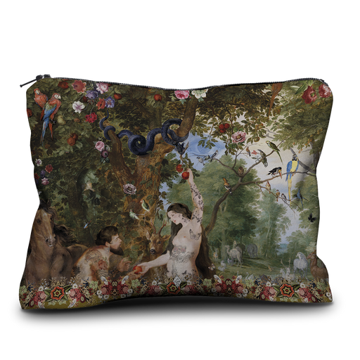 Adam and Eve French Velvet Pouch