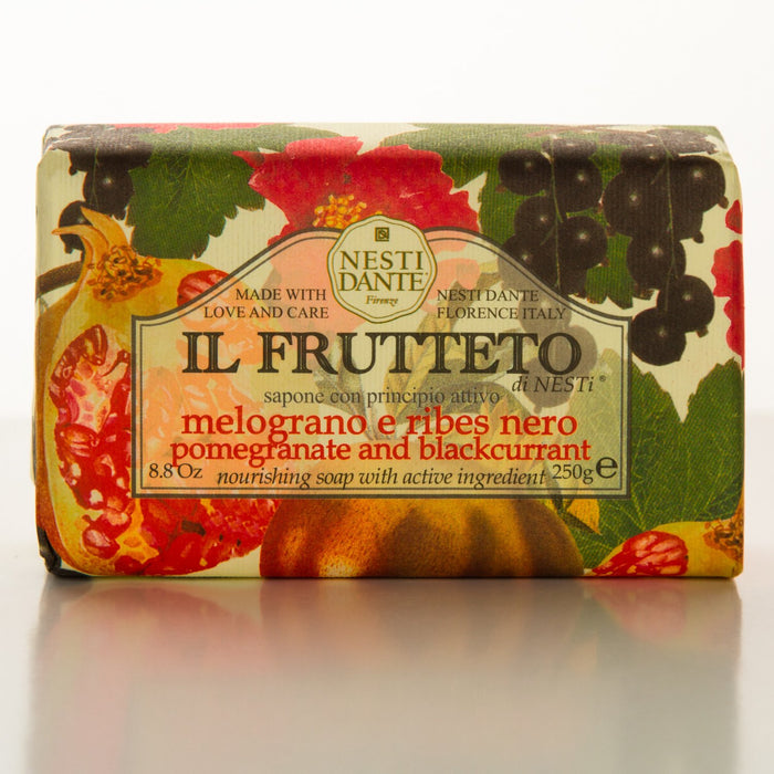 All Natural IL FRUTTETO Pomegranate and Black Currant Soap (8.8oz)