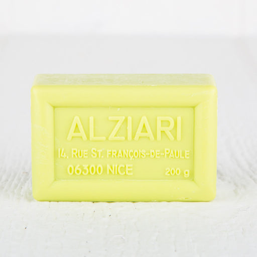 Alziari Olive Oil Verbena Scent Bar Soap 200g