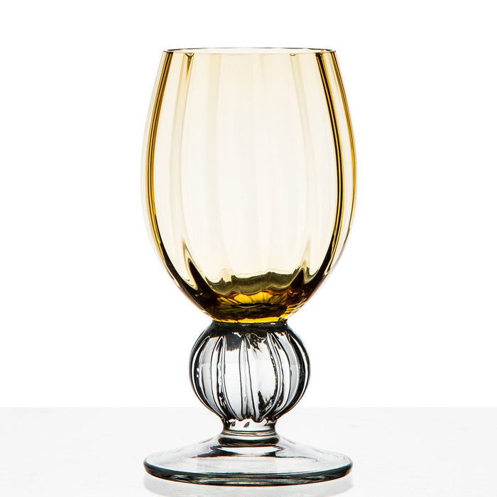 Amber Gold Water Glass