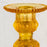 Amber Yellow Art Deco Glass Candlestick