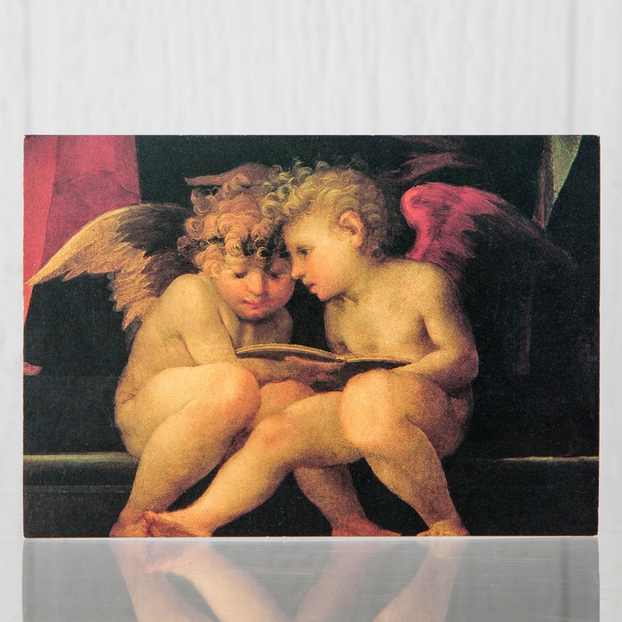 Angels Reading Postcard