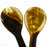 Antelope Horn & Wood Handle Salad Servers