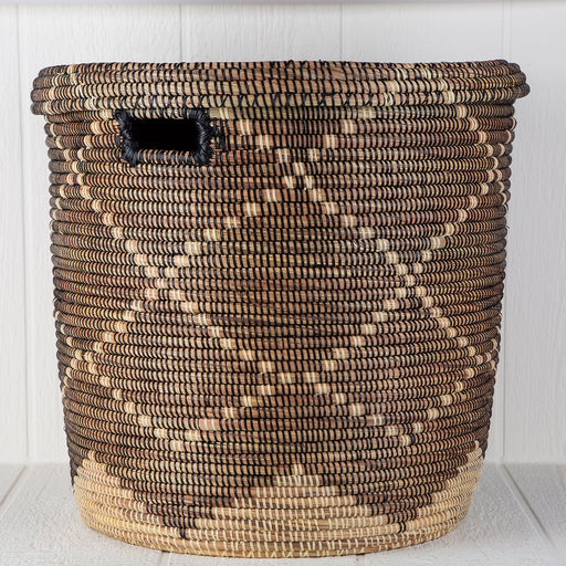 "Argyle African Basket Hamper With Lid (20""h)"