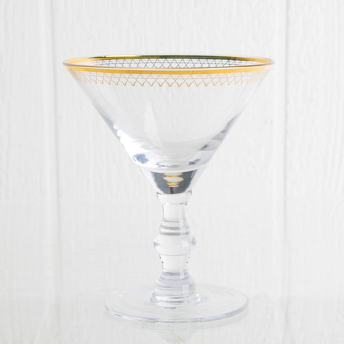 Art Deco Stemware Martini Glass