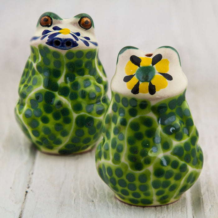 Artisan Frog Salt and Pepper Shakers