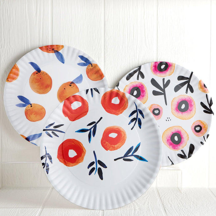 Assorted Melamine Floral Serving Plate