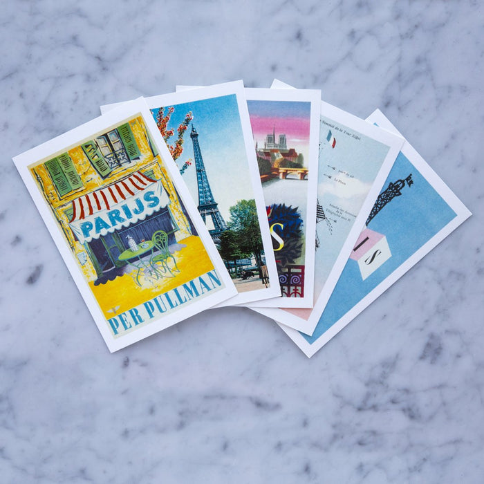 Assorted Vintage French Postcards No.3 (Set of 5)