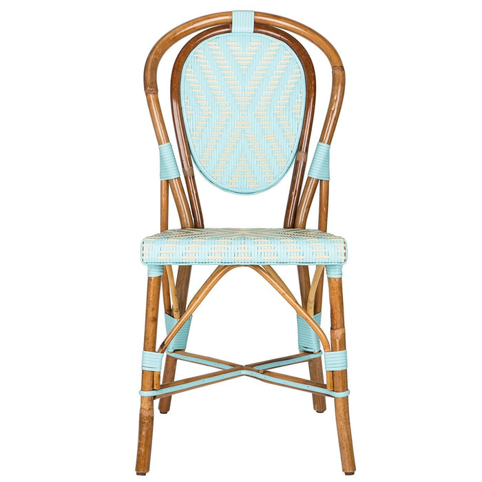 Light Azure & Cream Mediterranean Bistro Chair (DBL)
