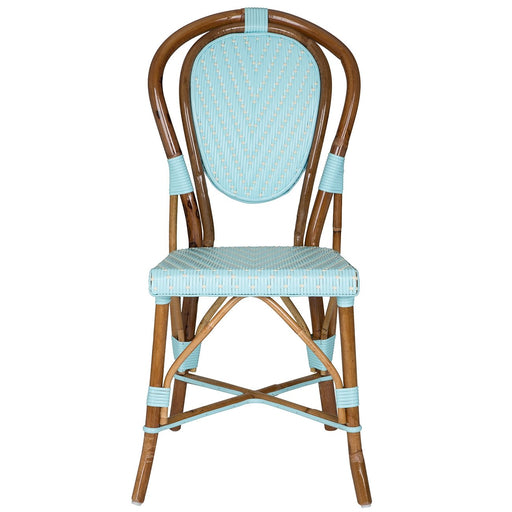 Azure & Cream Mediterranean Bistro Chair (L)