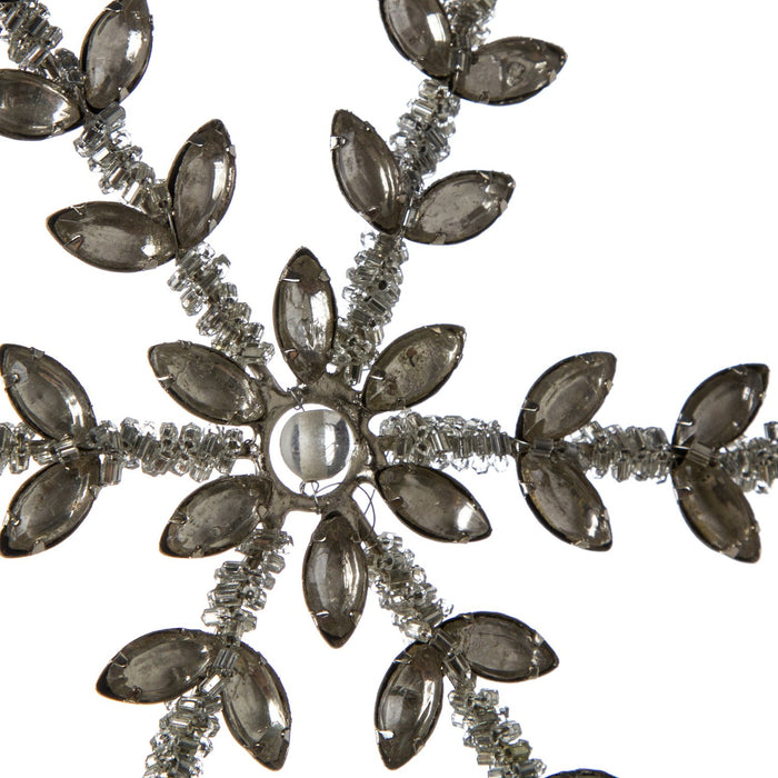 Beaded Pearl Snowflake Ornament