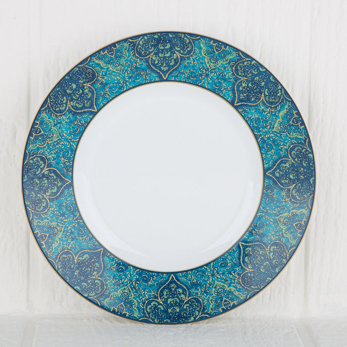 Beautifully Detailed Moroccan Pattern Stoneware Dessert Plate