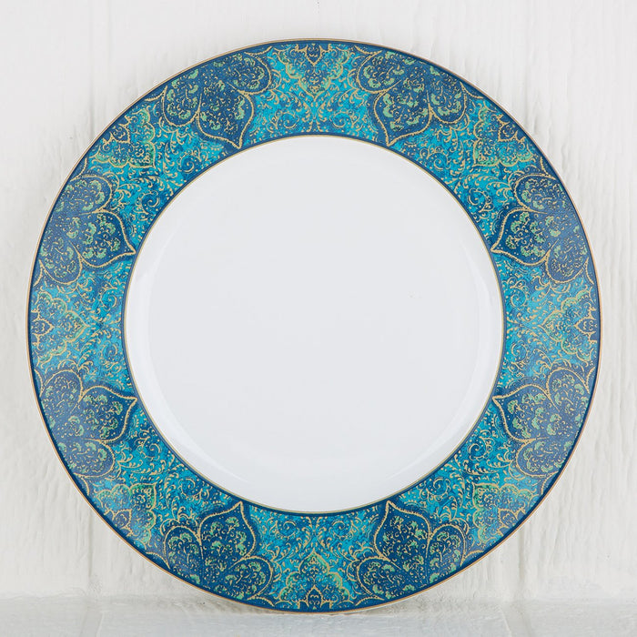 Beautifully Detailed Moroccan Pattern Stoneware Dinner Plate