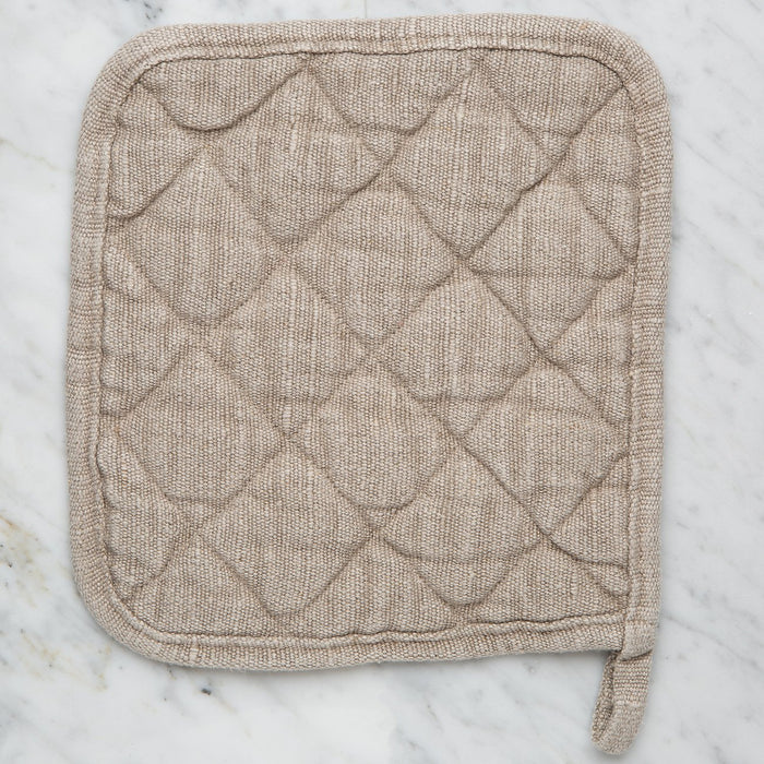 Beige 100% Linen Deco Pot Holder