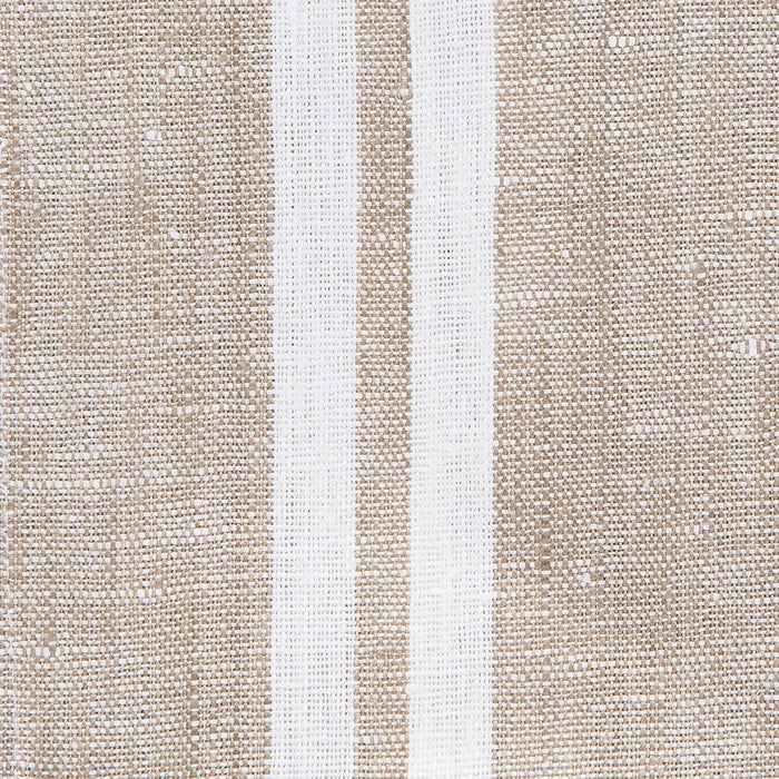 Beige & White Striped Linen Tea Towel