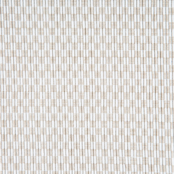 "Beige Checkered 100% Cotton Rep Weave Placemat (18.5"" x 13.25"")"