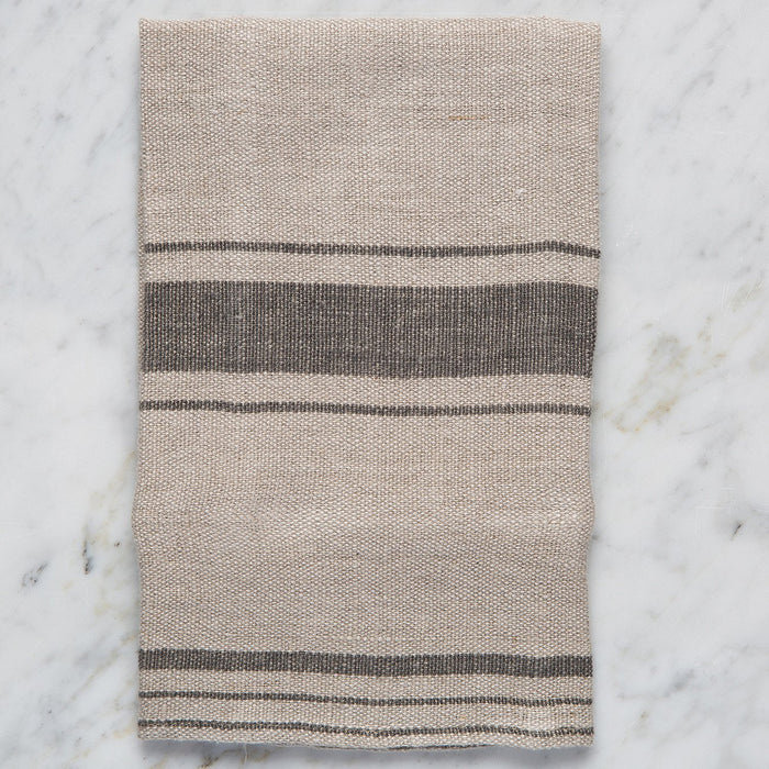 "Beige Striped 100% Linen Napkin (15.5"" x 15.5"")"
