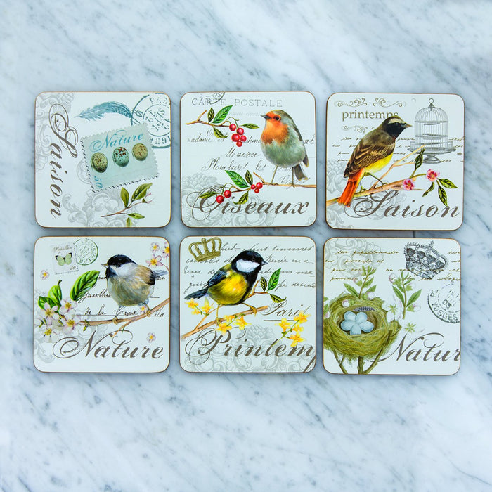 Bird Coasters (Set of 6)